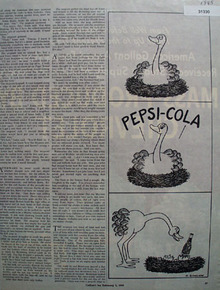 Pepsi cola Cartoon 1945 Ad