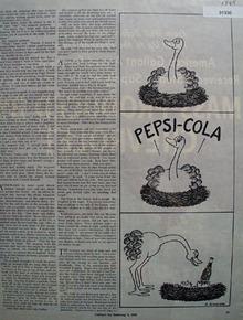 Pepsi cola Cartoon 1945 Ad
