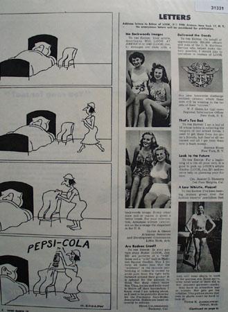Pepsi Cola Cartoon 1946 Ad