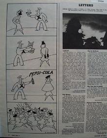 Pepsi Cola Sailor Cartoon 1944 Ad