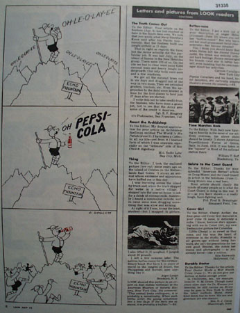 Pepsi Cola Echo Mountain Cartoon 1943 Ad
