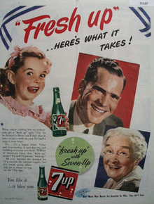 7UP Fresh up 1943 Ad