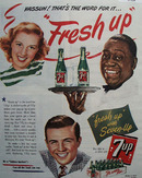 7 UP You Like It, It Likes You 1944 Ad