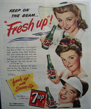 7 UP Keep On The beam 1944 Ad