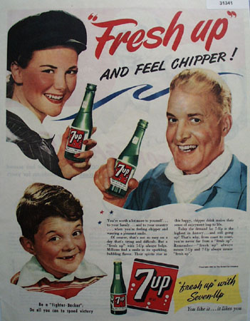 7 UP Fresh Up 1944 Ad