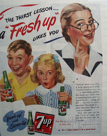 7 UP The Thirst Lesson 1944 Ad
