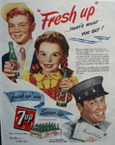 7 UP That is What You Get. 1944 Ad