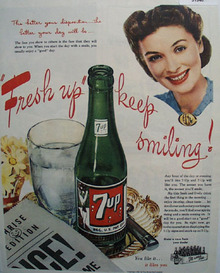 7 UP Fresh up Keep Smiling 1945 Ad