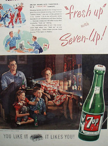 7 UP Home Life Together 1948 Ad