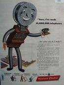 Bell telephone Western electric Supplier 1946 Ad
