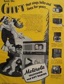 Motorola Television and Gift Radios 1948 Ad
