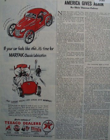 Texaco Marfak Chassis Lubrication 1946 Ad