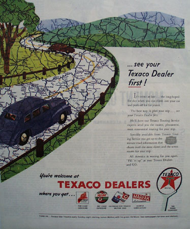 Texaco Dealers First 1946 Ad