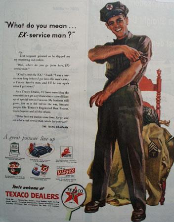 Texaco Service Man 1945 Ad