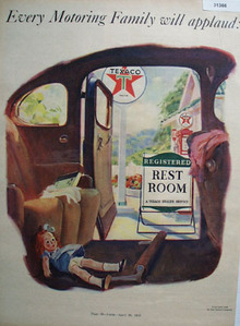 Texaco Registered Rest Room 1938 Ad