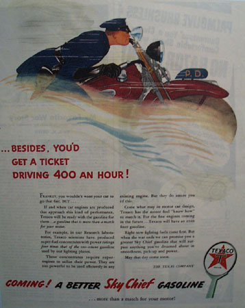 Texaco Better Sky Chief Gasoline 1944 Ad