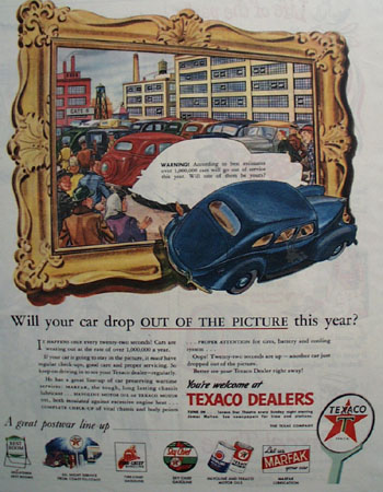 Texaco Out Of The Picture 1945 Ad