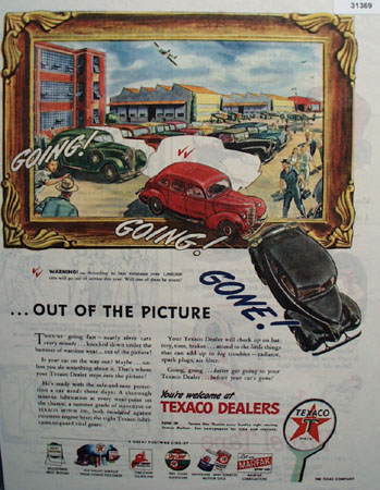 Texaco Going Going Gone 1945 Ad