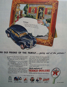 Texaco Old friend of the Family 1945 Ad