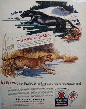 Texaco Havoline Matter of Opinion 1951 Ad