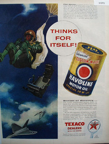 Texaco Havoline Thinks for Itself 1956 Ad