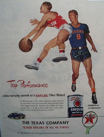 Texaco Havoline Motor Oil Top Performance 1948 Ad