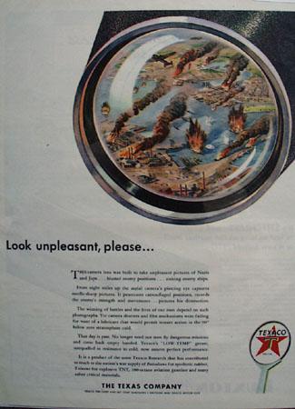 Texaco Look Unpleasant, Please 1943 Ad