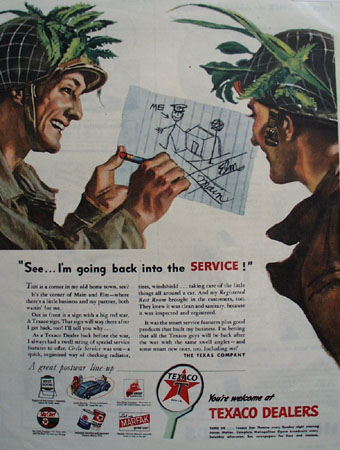 Texaco Better Sky Chief Gasoline 1944 Ad