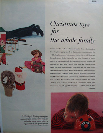 Christmas toys for the whole Family 1956 Article