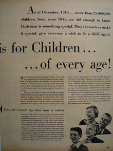 Christmas is for Children 1949 Article