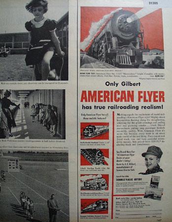 Gilbert American Flyer Model Railroad Locomotive 1955 Ad