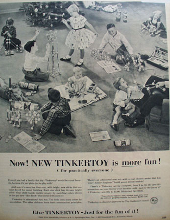 Tinkertoy Educator Approved 1955 Ad