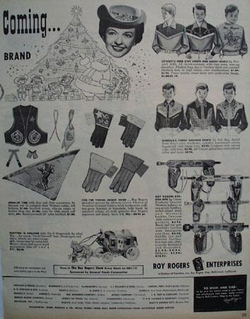 Roy Rogers Enterprises 1955 Ad