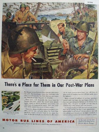 Motor bus lines of America 1944 Ad