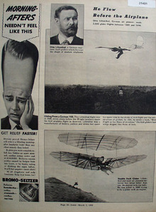 Otto Lilienthal German Air Pioneer 1938 Article