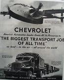 Chevrolet Biggest Transport Job. 1945 Ad