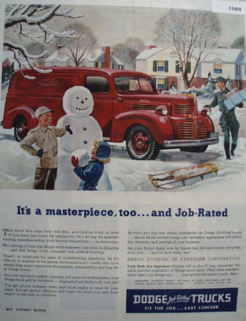 Dodge Trucks Masterpiece 1946 Ad