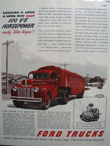 Ford Trucks Talks Torque 1946 Ad