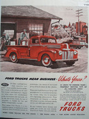 Ford trucks Mean Business 1946 Ad
