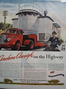 GMC Truck Anchors Aweigh 1945 Ad