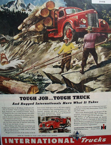 International Rugged Trucks 1946 Ad
