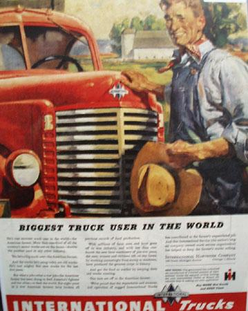 International Farm Truck 1945 Ad