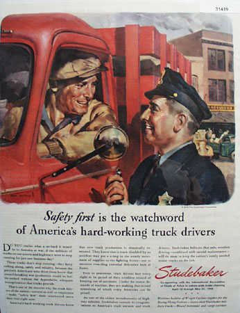 Studebaker Hard Working truck 1945 Ad