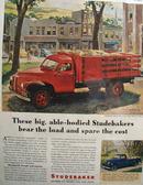 Studebaker Truck Town Scene 1946 Ad