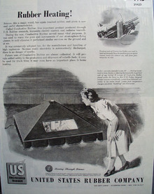 U.S. Rubber Co Rubber Heating 1945 Ad