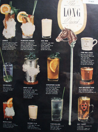 The Long Drink Recipes 1948 Article