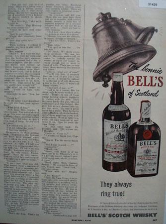 Bonnie Bells Of Scotland Whiskey 1950 Ad