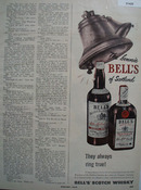 Bonnie Bells Of Scotland Whiskey 1950 Ad