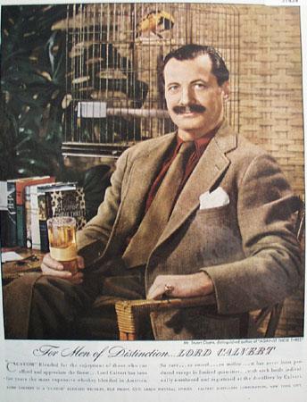 Lord Calvert Whiskey Stuart Cloete 1946 Ad
