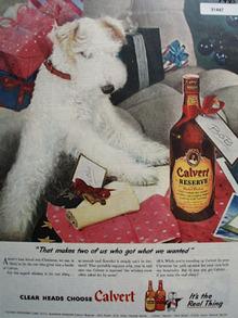 Calvert whiskey Present 1945 Ad